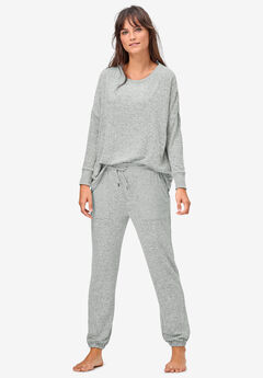 Marled Knit Jogger Pants,