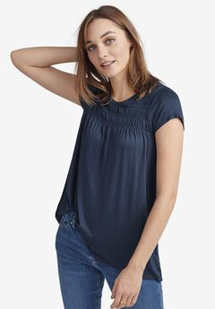 Smocked Tunic by ellos®, NAVY
