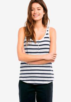 Knit Henley Tank by ellos®,