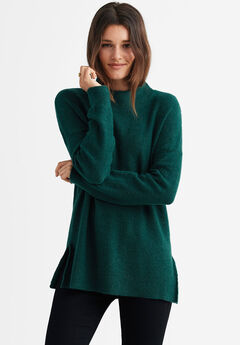 Mockneck Tunic Sweater by ellos®,