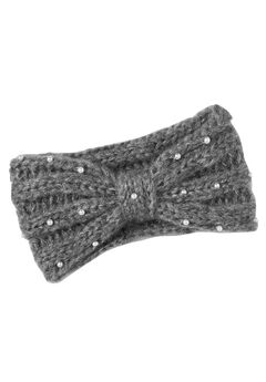 Cable Knit Pearl Trim Headband by ellos®,