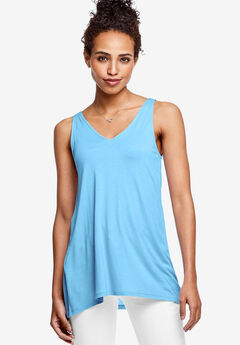 Lace-Up Back Tunic Tank by ellos®,