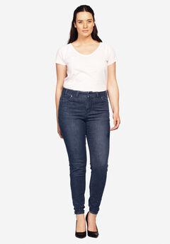 Ankle Zip Skinny Jeans by ellos®, INDIGO