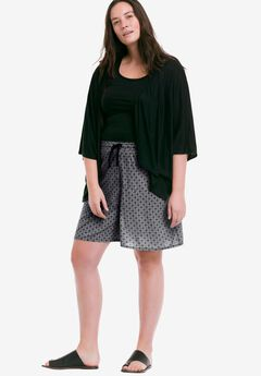 Wide Leg Knit Shorts by ellos®,