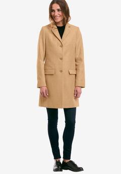Long Wool Blend Blazer by ellos®, CLASSIC CAMEL