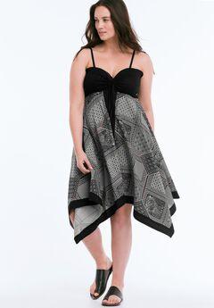 Scarf Print Dress by ellos®, BLACK PRINT