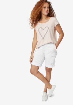 Convertible Cargo Shorts, WHITE