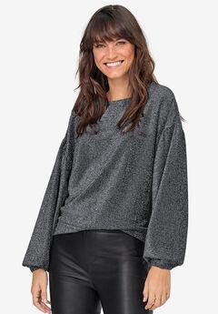 Glitter-Knit Sweatshirt by ellos®,