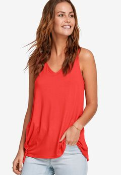 Lace-Back Tunic Tank by ellos®,