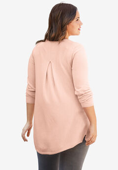 Pleat Back Sweater by ellos®, ROSY PINK