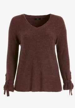 Tie-Sleeve Sweater by ellos®,