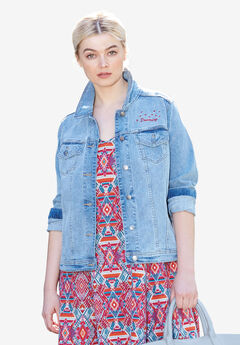 Distressed Denim Jacket by ellos®,