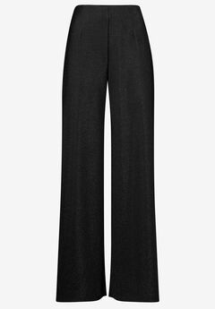 Wide Leg Soft Pants by ellos®, BLACK METALLIC