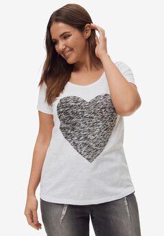 Love Ellos Tee, WHITE HEART