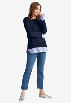 Fine Gauge Layered Pullover by ellos®,
