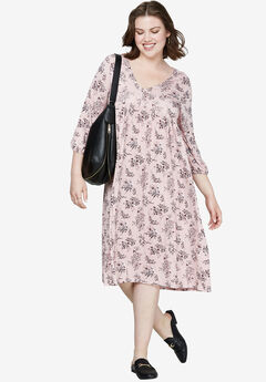 Floral A-Line Dress by ellos®,