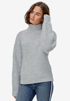 Chunky Turtleneck Sweater by ellos®, HEATHER GREY