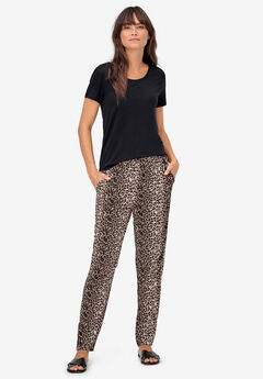 Woven Soft Pants by ellos®, ANIMAL PRINT