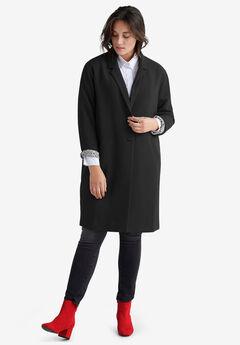 Button-Front Boyfriend Coat by ellos®,