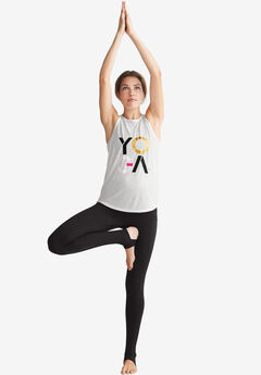 Screen-print Yoga Tank by ellos®,