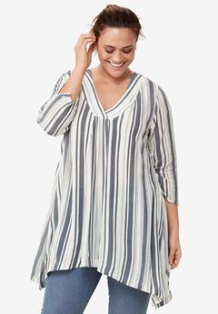 Crossover V-Neck Tunic by ellos®,