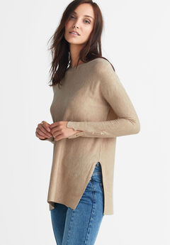 Boatneck Sweater Tunic by ellos®,