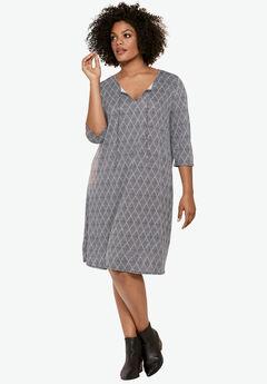 Keyhole Neck A-Line Dress by ellos®,