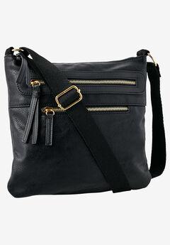 Multi-Zip Crossbody Bag,