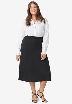 Knit A-line Skirt,