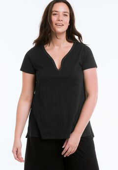 Beaded Trim Tee by ellos®,