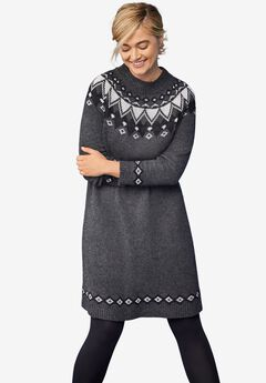 Stockholm Sweaterdress , HEATHER CHARCOAL