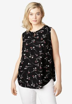 Button Keyhole A-line Tank by ellos®,