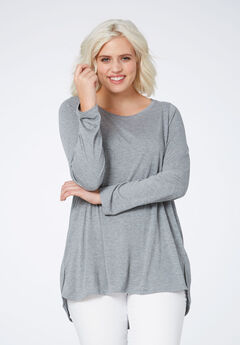 High/low Shirttail Hem Tunic,