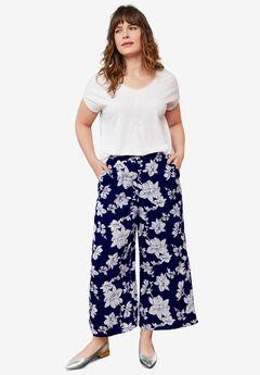 Wide-Leg Crop Pants by ellos®,