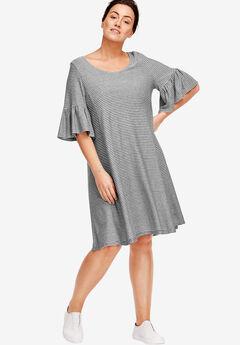 Flounced Knit Dress by ellos®,