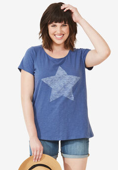 Love Ellos Tee by ellos®, ROYAL NAVY STAR