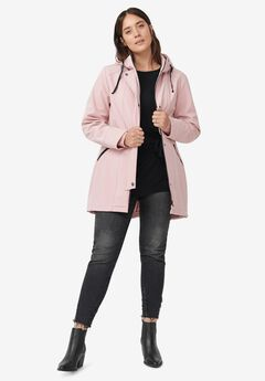 Bonded High-Low Jacket by ellos®, MAUVE BLUSH