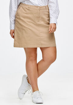 Chino Skort by ellos®, NEW KHAKI
