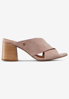 Suede Block Heel Sandal, ROSE DUST