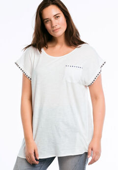 Beaded Trim Tunic by ellos®,