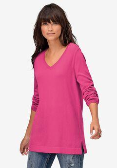 V-Neck Sweater Tunic,