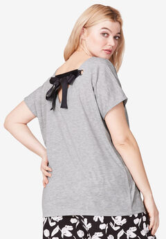 Ribbon Tie-Back Tee by ellos®,