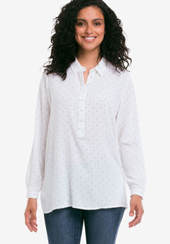 Button Placket Popover Tunic by ellos®,