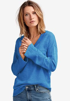 Pointelle Bell-Sleeve Sweater by ellos®,