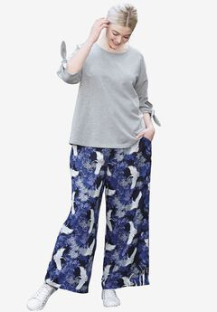Wide-Leg Soft Pants by ellos®,