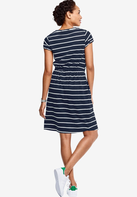 5347a0adae0 Knit Drawstring Dress by ellos®