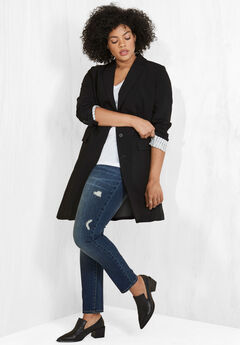 Long Boyfriend Blazer, BLACK