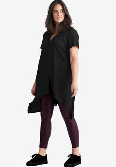 Slit-Front V-Neck Tunic by ellos®,