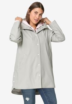 Snap-Front Raincoat by ellos®, DOVE GREY