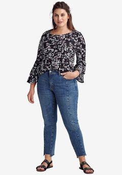 Notch-Hem Skinny Jeans by ellos®,